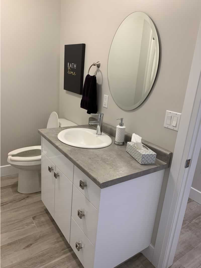 Condo Bathroom Property Development J. Corsi Developments Home Builder and House Construction Sudbury Ontario