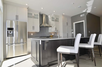 Palladium Place White Kitchen Property Development J. Corsi Developments Home Builder and House Construction Sudbury Ontario